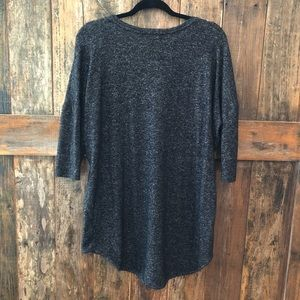 Express Sweaters - Express, L, Gray V-Neck Light Sweater